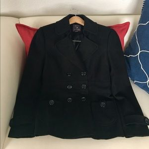 Forever 21 Black Pea Coat